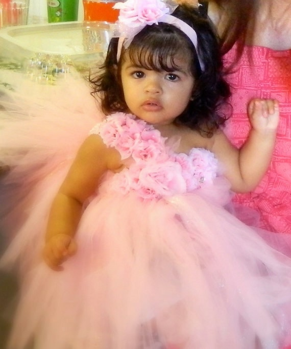 Elegant Flower TuTu dress,Stretchy,Single Strap,Daily Dressing up,Flower girl,Picture,Baby Shower,newborn-8T