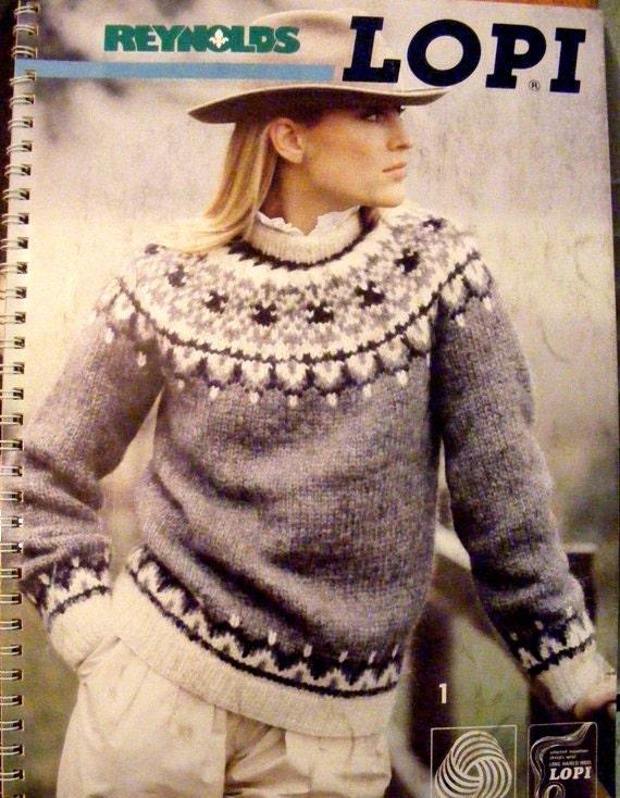 Vintage 1985 Reynolds LOPI Icelandic Sweater Knitting Pattern Book
