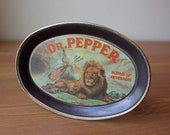 Vintage Dr. Pepper Tip Tray, Metal Tray