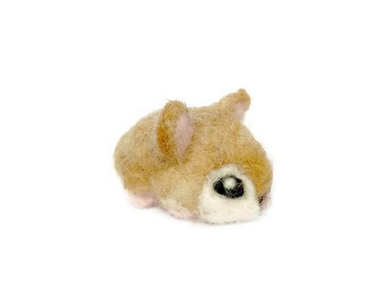 Needle Felted Hamster - Miniature Robo Hamster Amigurumi Animal Soft Sculpture