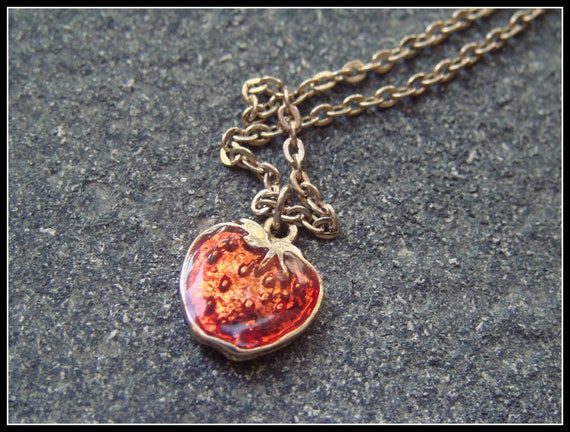 Vintage Yummy  Sarah Coventry Strawberry Necklace