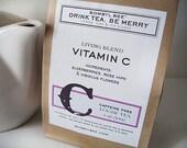 VITAMIN C Herbal Tea - Elderberries, Rose Hips & Hibiscus Flowers, caffeine-free loose leaf blend: 3 oz.