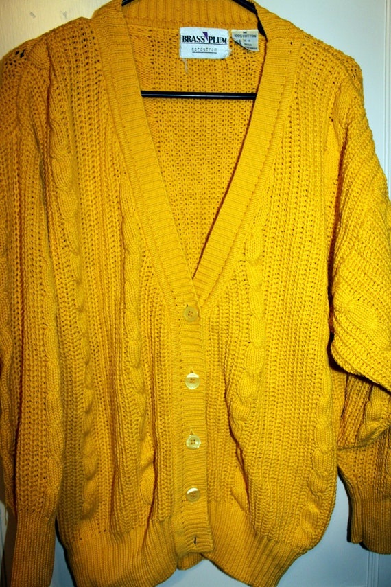 Bright  Knitted Yellow Nordstrom Sweater