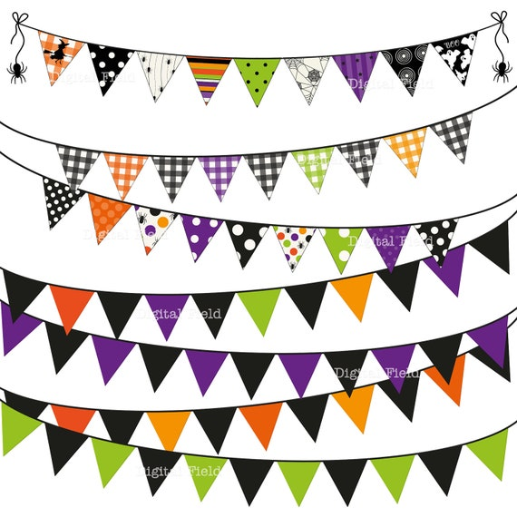 Halloween Bunting what youll need to make your own spooky halloween bunting Halloween Bunting Clip Art Set No 2 Halloween Printable Digital Clipart Instant Download