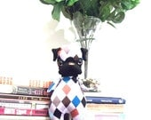 miniature Mon Cher Pug (black, brown, blue, orange, grey, white, checkered) pug doll