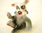 Vintage March Hare Crazy Rabbit Ceramic Figurine