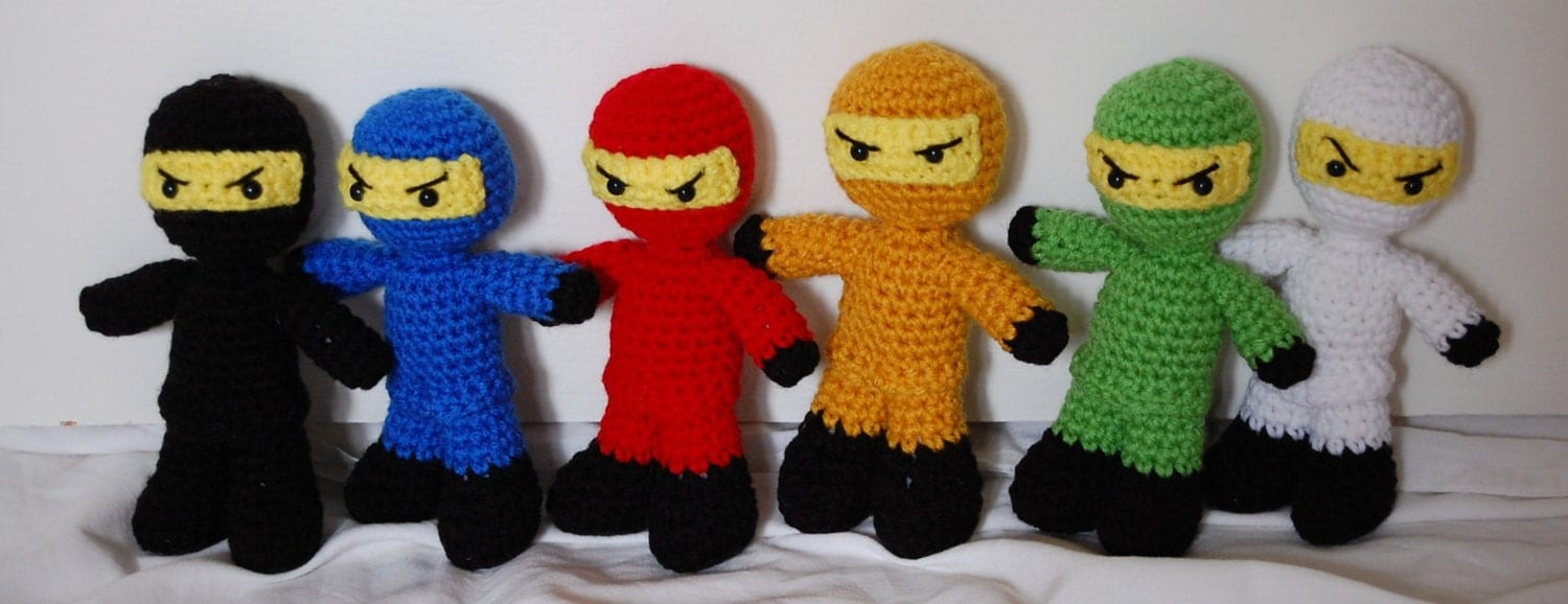 Crochet Lego Ninjago Amigurumi Dolls by efficientsense on Etsy