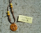 Egyptian tribal style golden face charm necklace (1) first on left