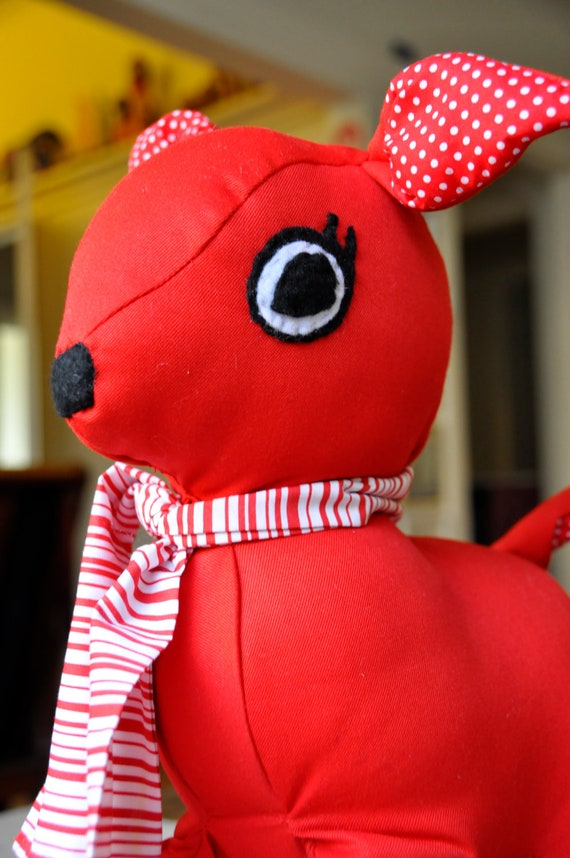 Oh deer a creature softie (red with a touch of spots & stripes) - ON HOLD BEC
