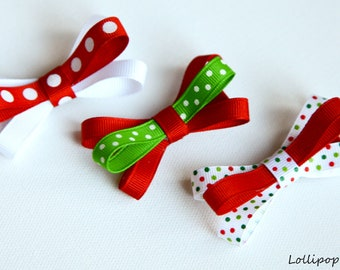 Hair Clips for Baby Baby Hair Clips Kids Hair Clips Infant Hair Clips Girls Hair Clips Christmas Hair Clips Holiday Hair Clips Christmas Bow