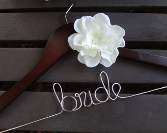 Wedding Dress Hanger, Custom Bridal Hanger, Personalized Hanger, Bridesmaid Hangers, Bride Gift, Bridal Shower, Engagement, Wedding Day