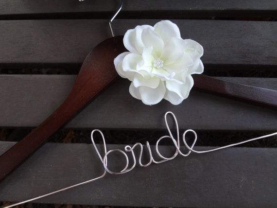 Wedding dress hanger custom bridal hanger personalized for Wedding dress personalized hanger
