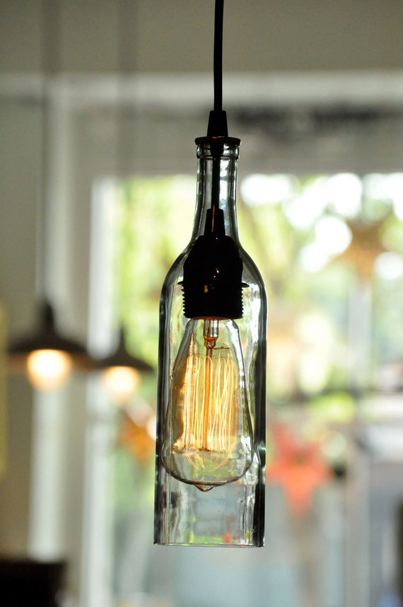 Recycled Bottle Pendant Lamp Whiskey Bottle by