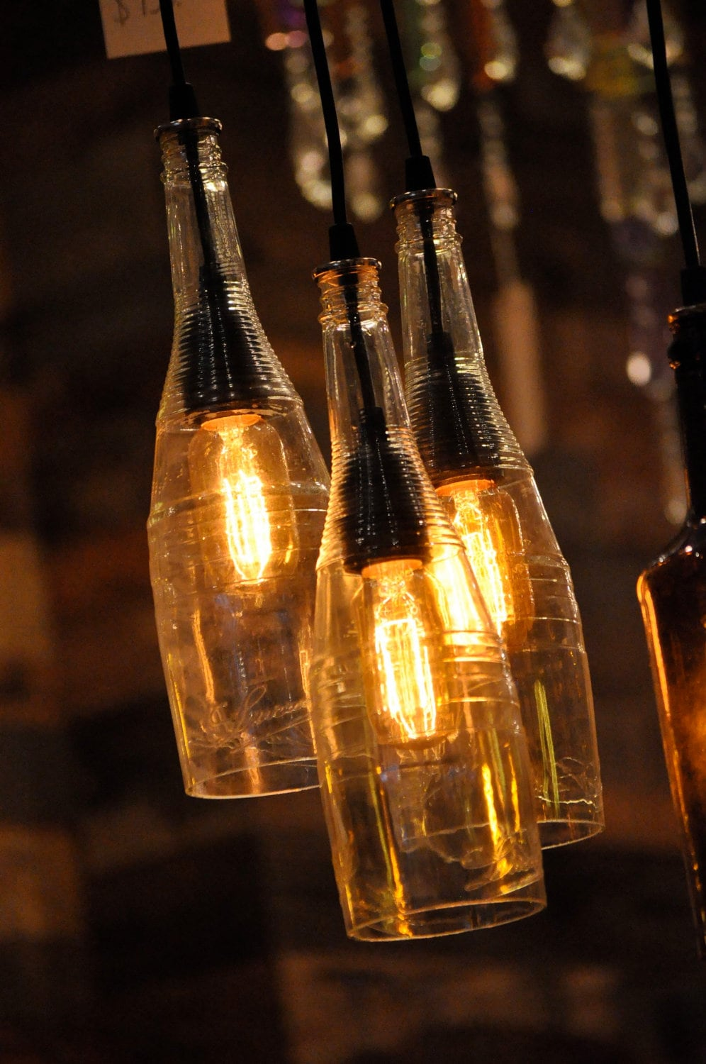 Atomic Lounge Recycled Wine Bottle Hanging Lamp By