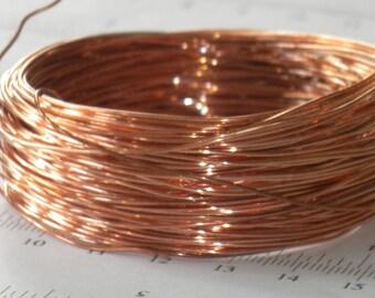 SALE-10 feet-22 gauge soft, genuine solid copper wire, jewelry making, easy to twist wire