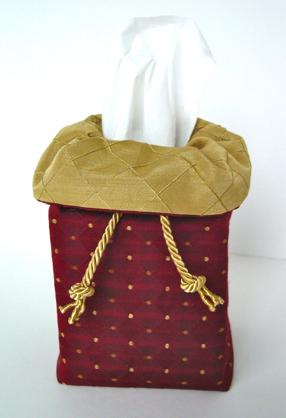 fabric tissue box cover in decorator fabrics. Black Bedroom Furniture Sets. Home Design Ideas