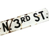 Rustic Vintage Street Sign Black & White Industrial Decor
