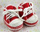 Crochet Baby Sneakers - Crochet Infant Sneakers - MADE TO ORDER - You Choose Size and Color