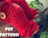 Crochet pattern, Crochet ruffles leg warmer, Crochet legwarmer pattern, Ruffles leg warmer pattern, newborn to 2 years, Pattern No. 23