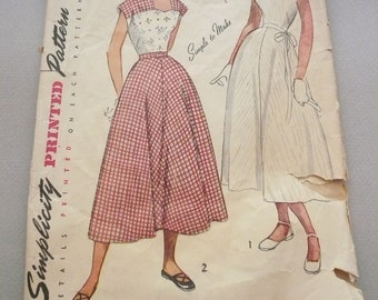 Vintage Simplicity Pattern 2718 Dress with Contrasting Yoke or  Bodice   Misses Size12