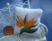 Bird of Paradise Mini Doll Pillow