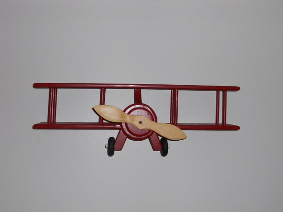 Handmade Wooden Airplane Wall Hanger