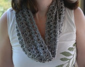 Reserved for SCA--Gray Crochet Infinity Scarf, - Reserved for SCA
