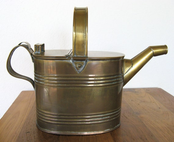 Antique Brass Watering Can-Early 1900s