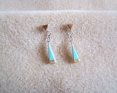 Zuni Sterling Silver Multi Stone Earrings