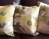 "Decorative Pillow Cover ""Richloom Marissa Green Tea"" -18x18 inch"