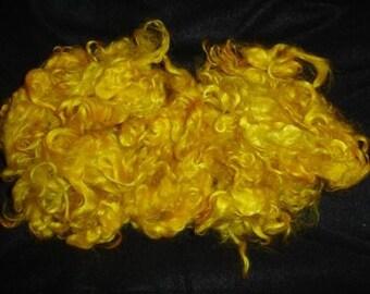Harvest Gold Mohair  3 ounce fleece