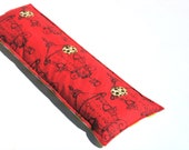 Handmade Lavender Eye Pillow,  Aromatherapy, chartreuse, Red, Herbal Eye Hot Compress Lady Bug