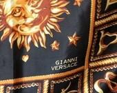 SALE Vintage Gianni Versace Horoscope Silk Scarf
