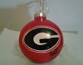 Georgia Football Holiday Ornament