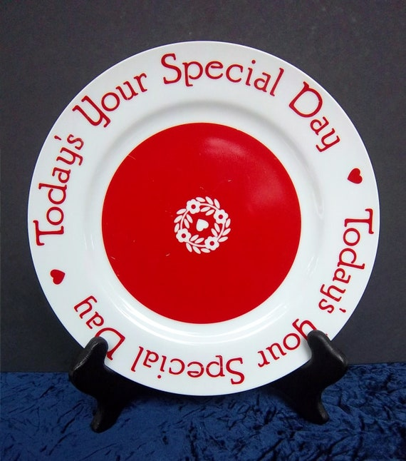 Reserved For Justine Today S Your Special Day Plate By