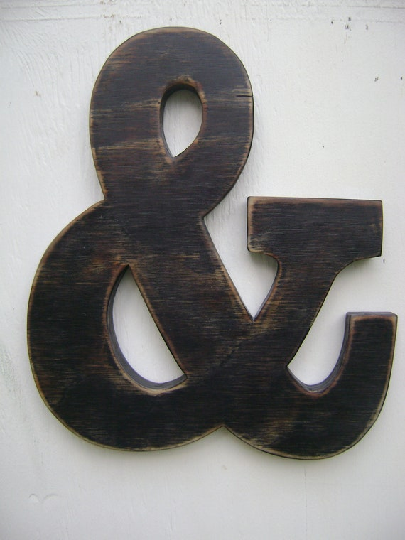 Black Ampersand Wall Decor : Ampersand and sign rustic weddingphoto prop wall hanging