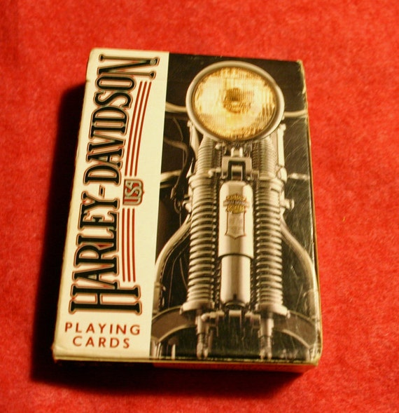 vintage pristine Harley Davidson playing cards from the 70s or 80s