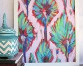16x20 Artist Painting Print abstract artwork ikat artwork floral