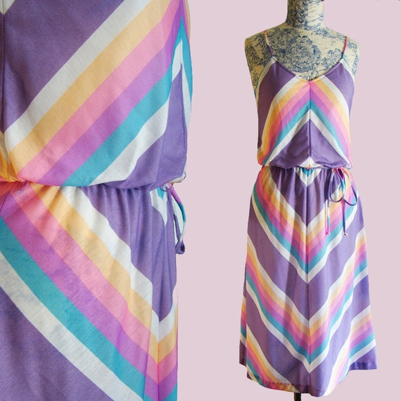 70s Rainbow Sun Dress