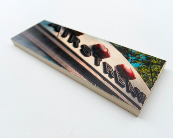 """Airstream Limited Edition Fine Art Photo Transfer 'O Canada' on 10""""x30""""  Wood Panel by Patrick Lajoie"""