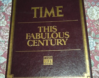 This Fabulous Century Set of 5 Publications By Time Life Books In Shelf Box Published 1988 Includes Years 1920 to 1970 Excellent Condition