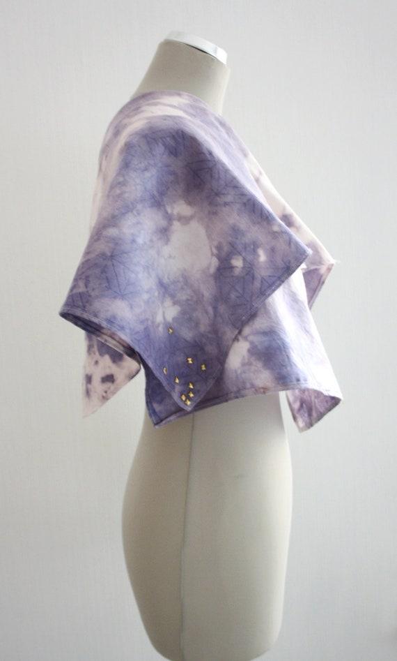 M I D N I G H T  / Violet / Blue/ White cotton scarf