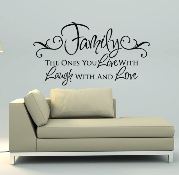 Bedroom wall quotes living room decals vinyl stickers for Living room quotes sayings