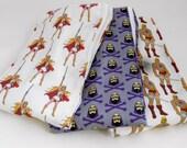 He Prince Man She Princess Ra Skeleton Burp Cloths - Set of 3