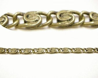 5 feet Myriad Iron Chain in antique bronze color-3866