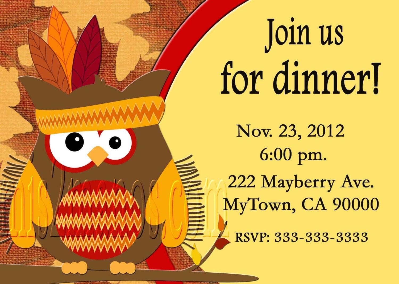 Thanksgiving Dinner Invitation diy Printable Party Invites – Thanksgiving Party Invite