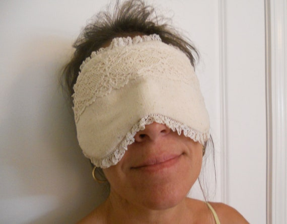 Cotton Lace and Muslin Sleep Mask