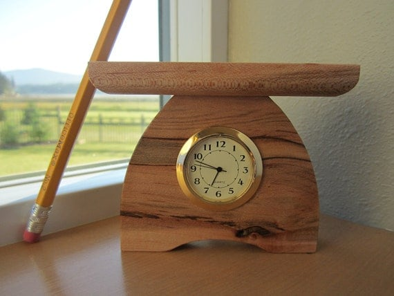 mini bungalow clock arts and crafts clock small desk clock