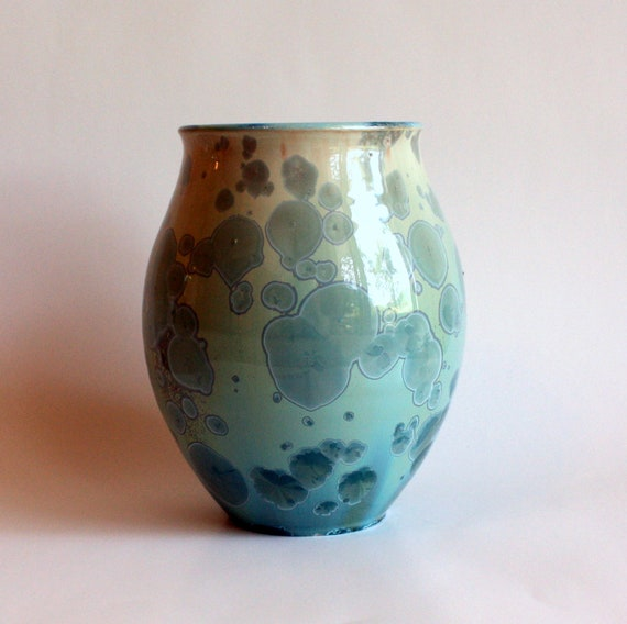 Silky Aqua Vase