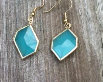 Mint Green Glass earrings